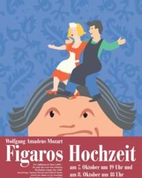 Flyer für die Aufführungen der Figaros Hochzeit